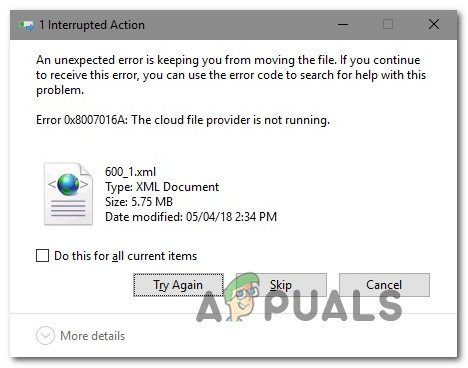How to Fix Error 0x8007016a 'Cloud File Provider Is not