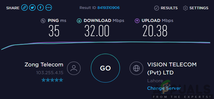 Checking Internet Speed