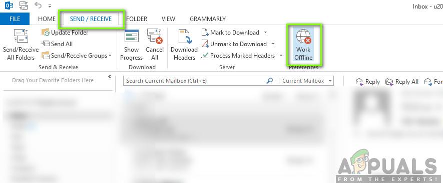 Work Offline Mode - Outlook
