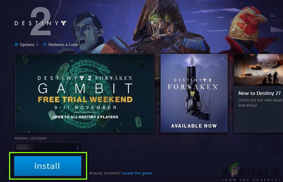 Installing Destiny 2 - Blizzard