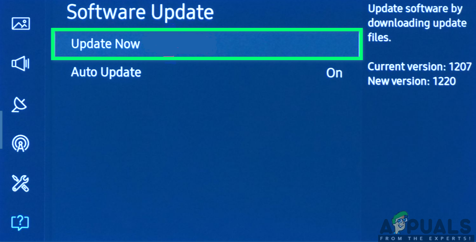 Updating the firmware of your Samsung TV