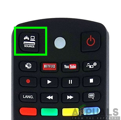 Source button on your remote