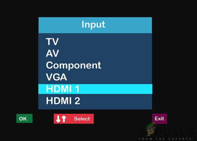 Changing the TV's Input into HDMI Channel