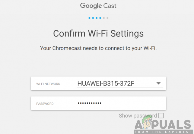 Verbinden Ihres Chromecast Ultra mit einem Wi-Fi-Netzwerk