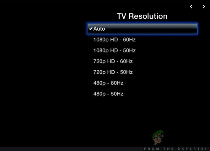 Changing Resolution Settings