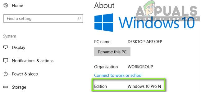 Checking Windows Version