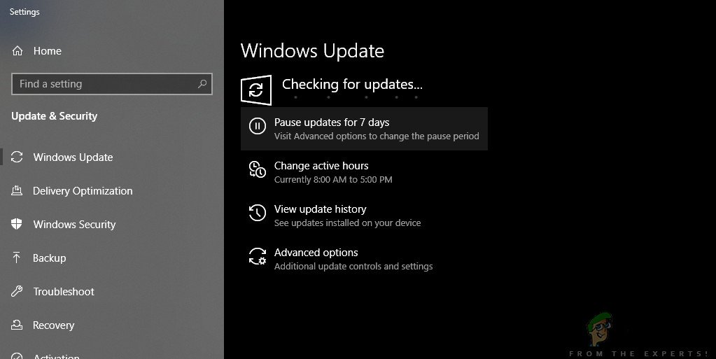 Checking for Updates - Windows