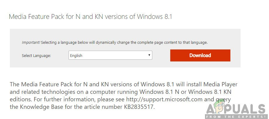 Installing Codecs for Windows N, KN Versions