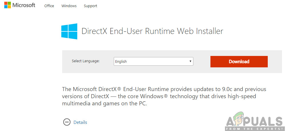 DirectX herunterladen