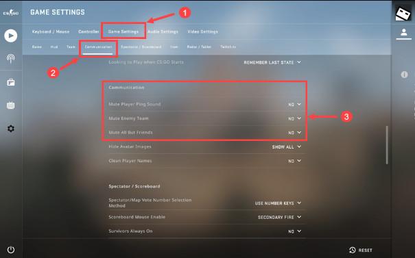Checking Game Settings - CS GO