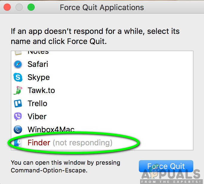 Finder not Responding - Mac OS