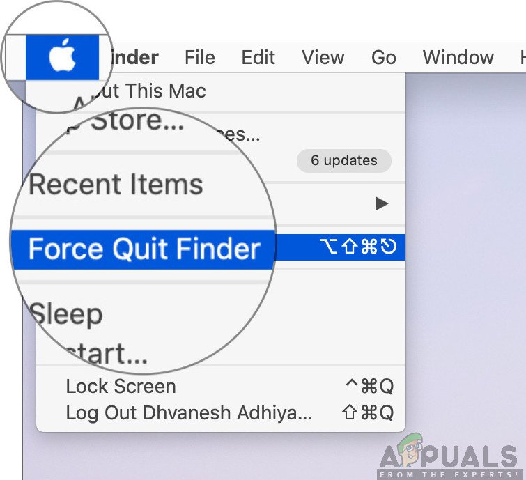 Force Quitting Mac Finder
