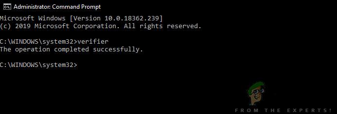 Überprüfungsbefehl - Windows