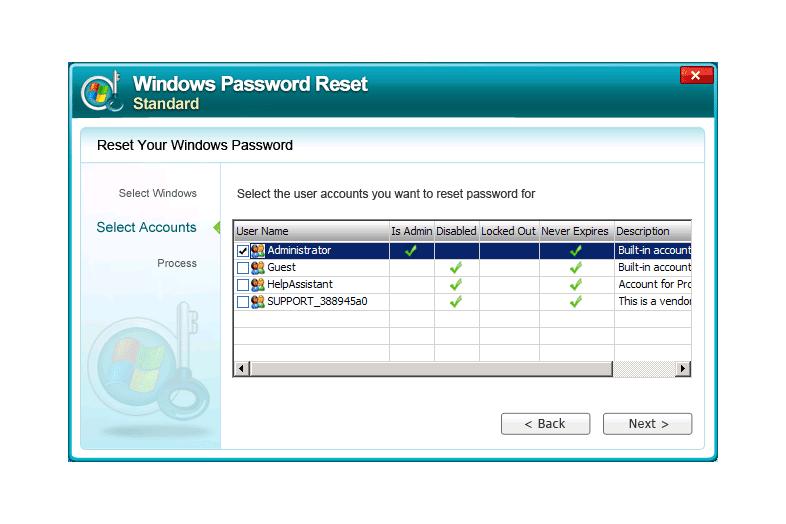 Winkey Password Reset