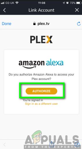 Autorisierung von Amazon Alexa