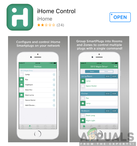 Downloading the iHome Control app