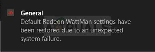 How to Fix the 'Default Radeon WattMan Settings Have been