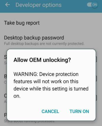Samsung OEM unlock