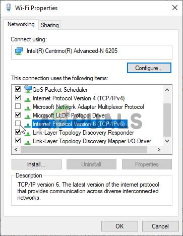 Disabling IPv6 Protocol