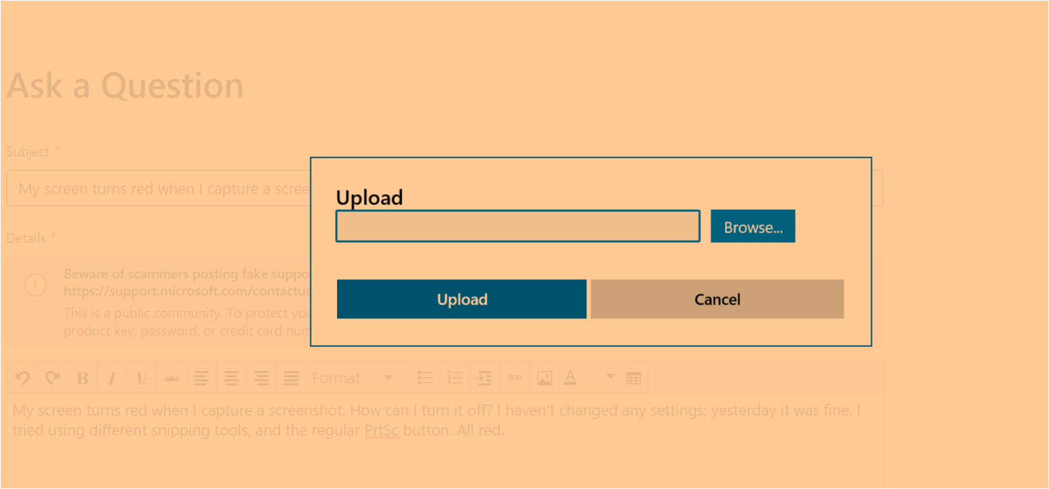 Windows 10 Orange Screen Bug