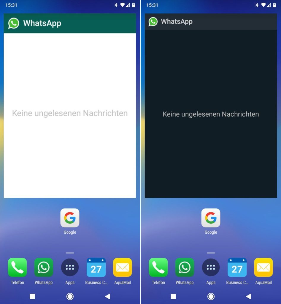 WhatsApp Beta For Android Widget Supports Dark Mode