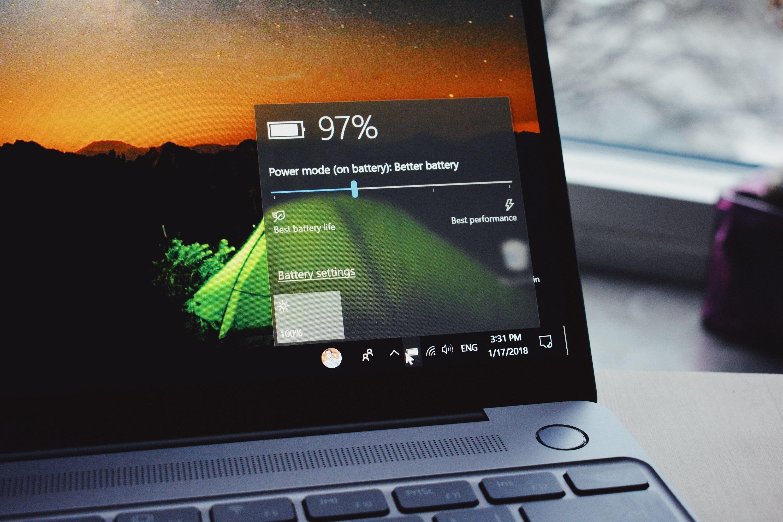 Windows 10 battery life