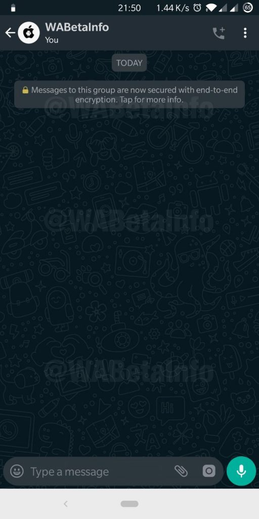 WhatsApp Gets Dark Default Wallpaper