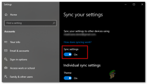 How to Fix 'Sync is not Available for Your Account' Error on Windows 10? - Appuals.com