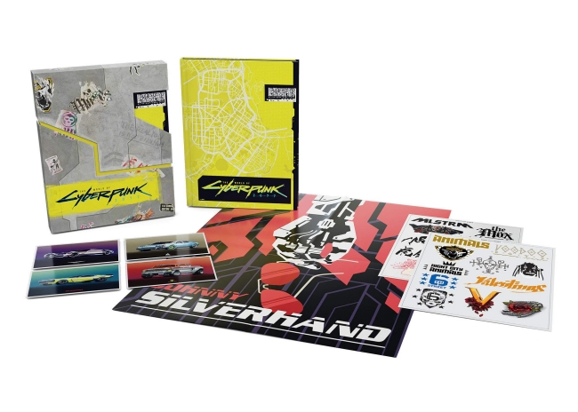 Photo of The World of Cyberpunk 2077 Deluxe Edition Contains Temporary Tattoos, Night City Map