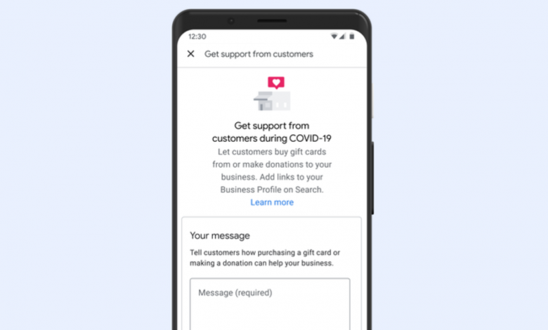 Photo of Google Adds A Way For People to Support Local Businesses: Links For Donations and Gift Cards Attached To Business Profiles