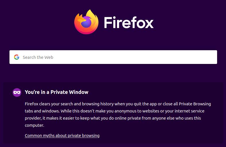 Firefox private window