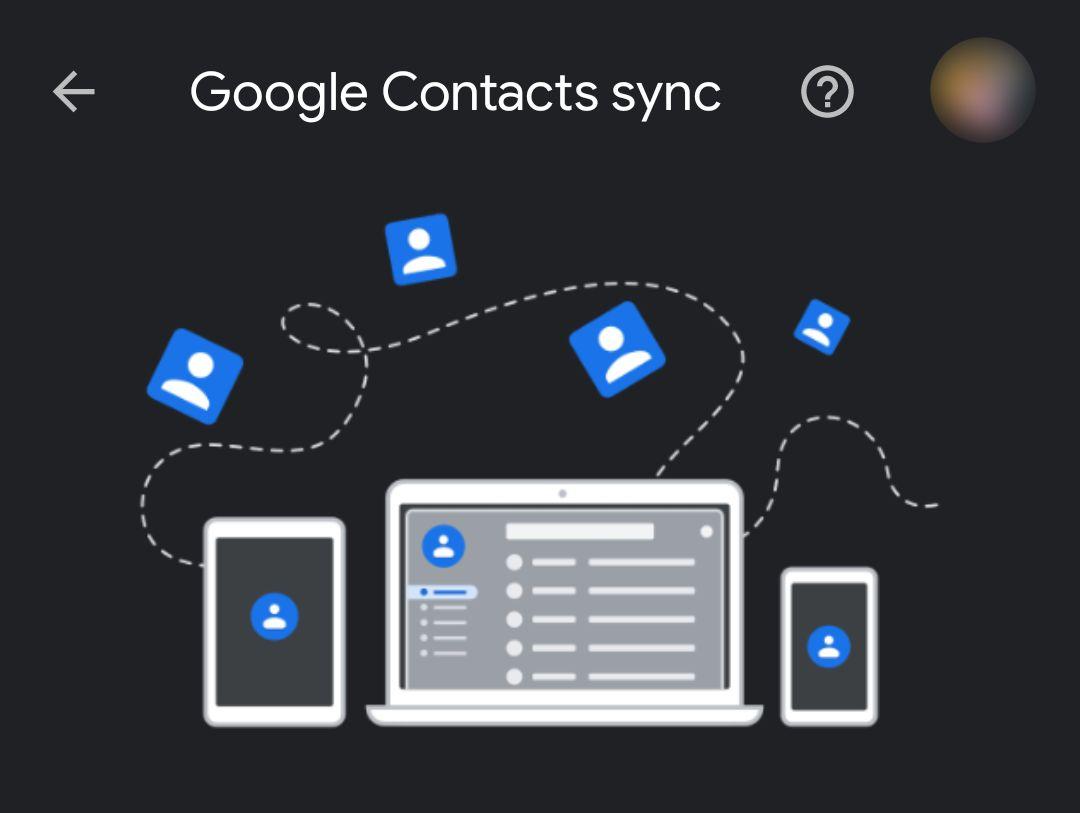 Synchronisierung von Google-Kontakten
