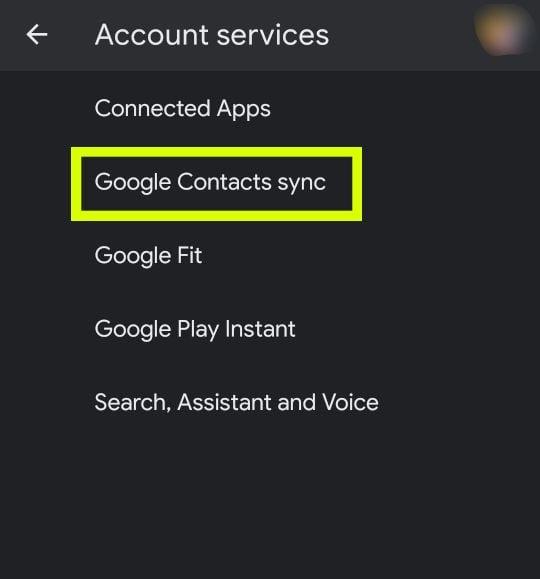 Synchronisierung von Google-Kontakten öffnen