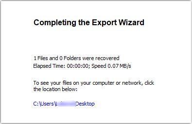 Datei erfolgreich von Ubuntu auf Windows übertragen