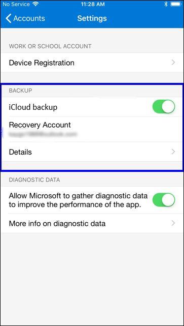 Enabling cloud backup on iPhone