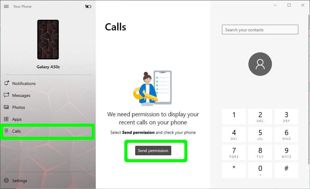Allow Recent calls access