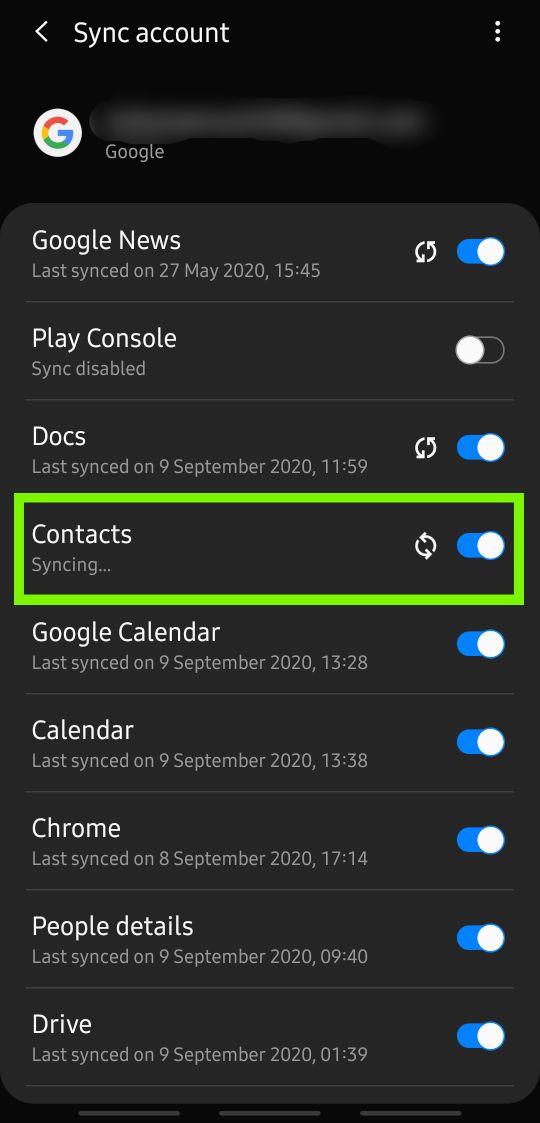 Kontaktsicherung aktivieren