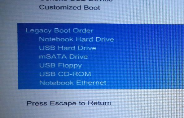 Change Boot Order to make Hard Disk first