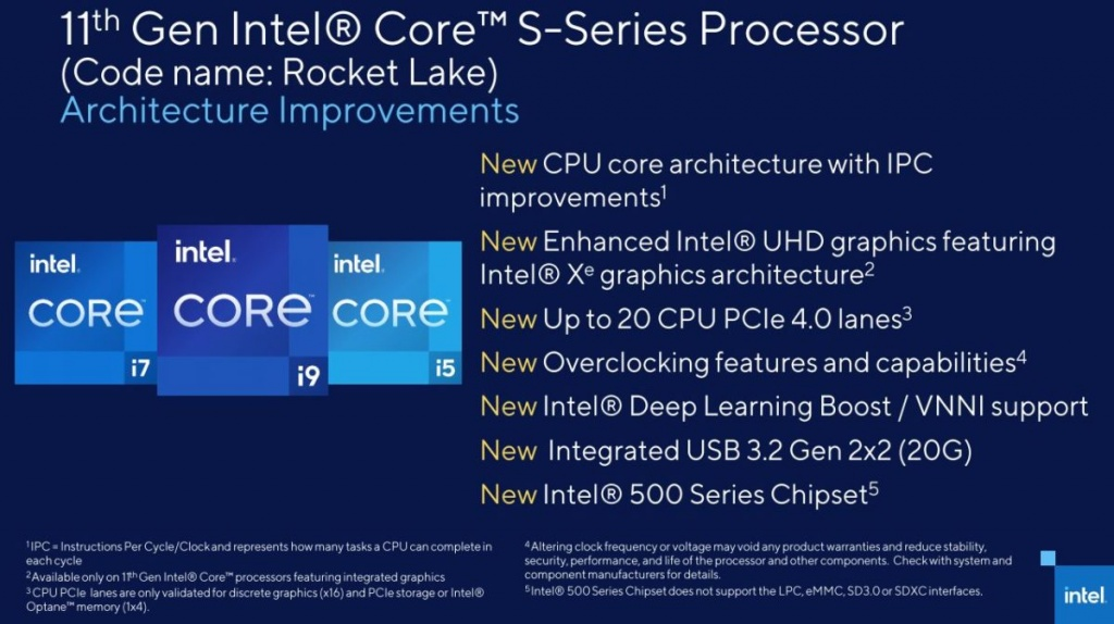 Intel Rocket Lake: Official New Details & Leaked Benchmarks