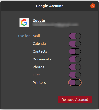 Turn on Google features