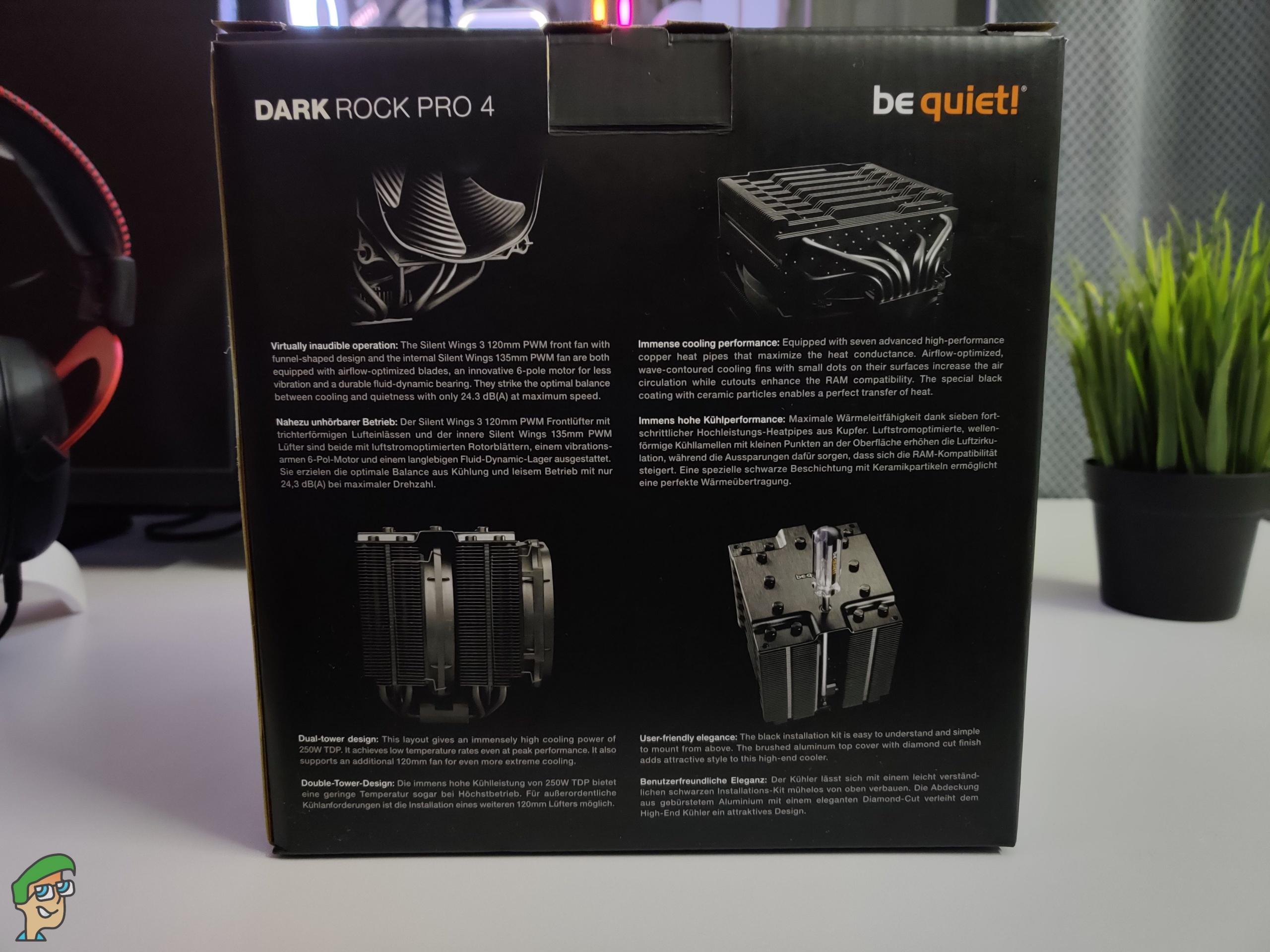 be Quiet! Dark Rock Pro 4 CPU Cooler Review