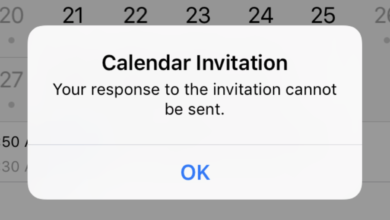 Your Response To The Invitation Cannot Be Sent