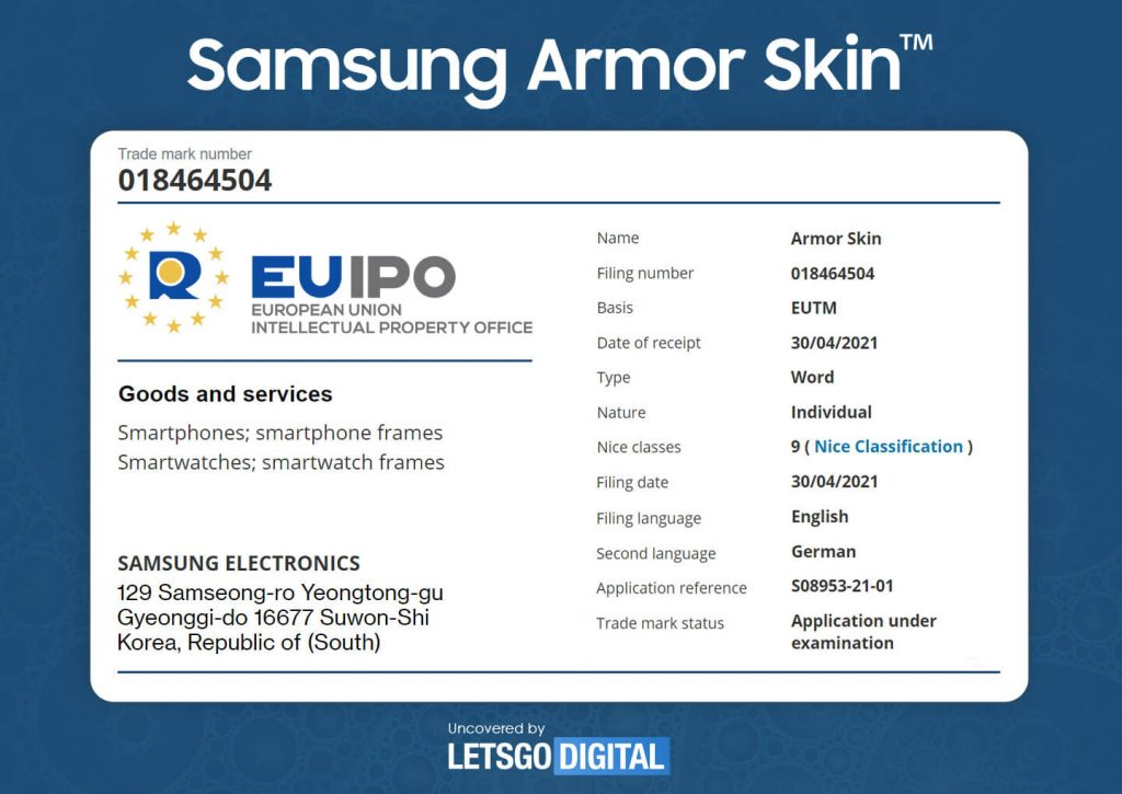 Samsung Armor Patent