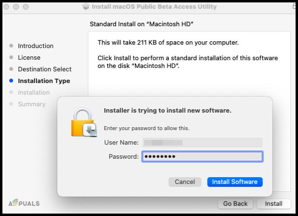 Install Software on Macintosh HD