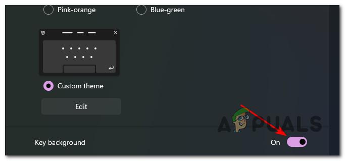 adding key backgrounds