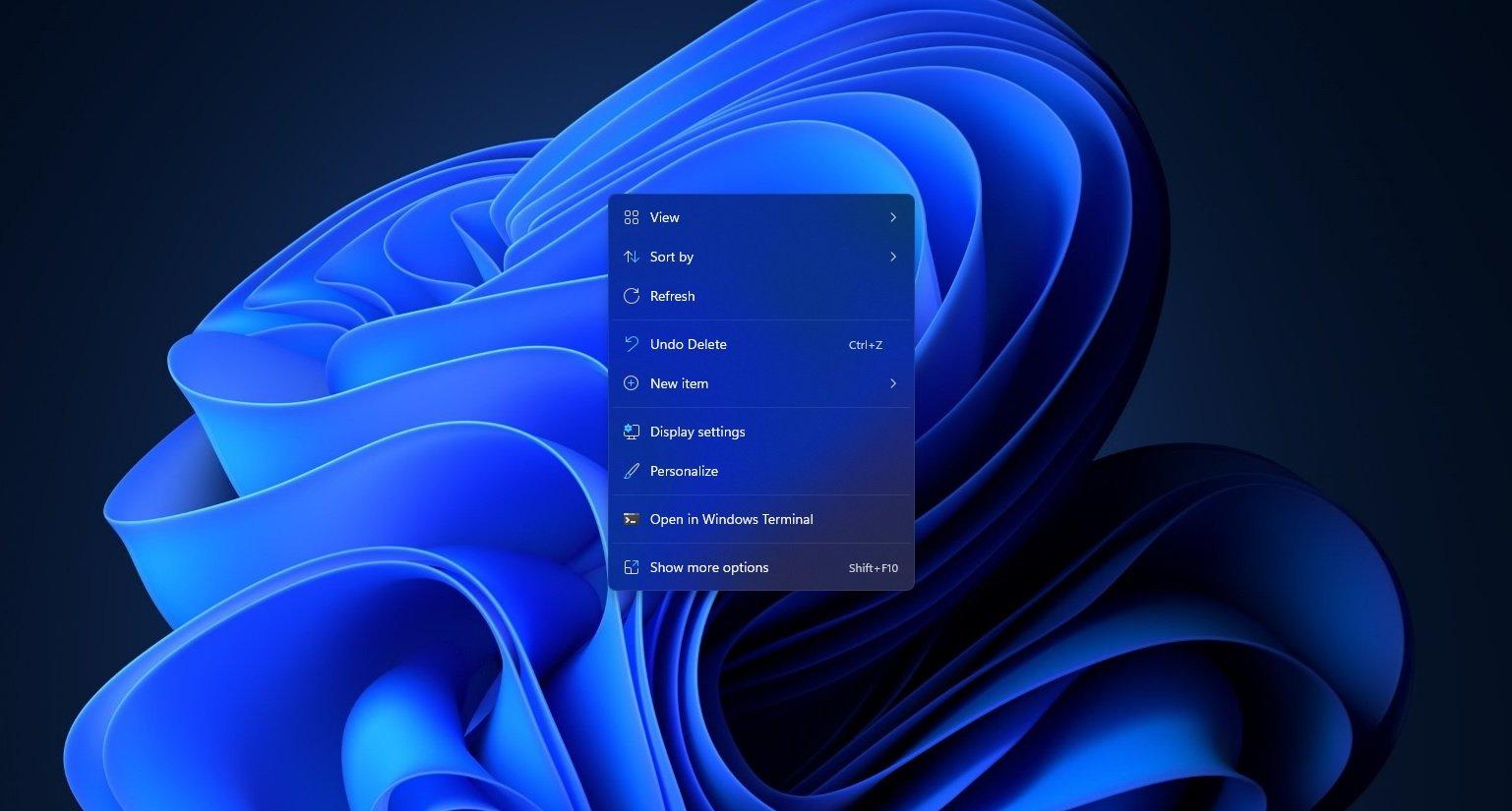 Windows 11 Taskbar view