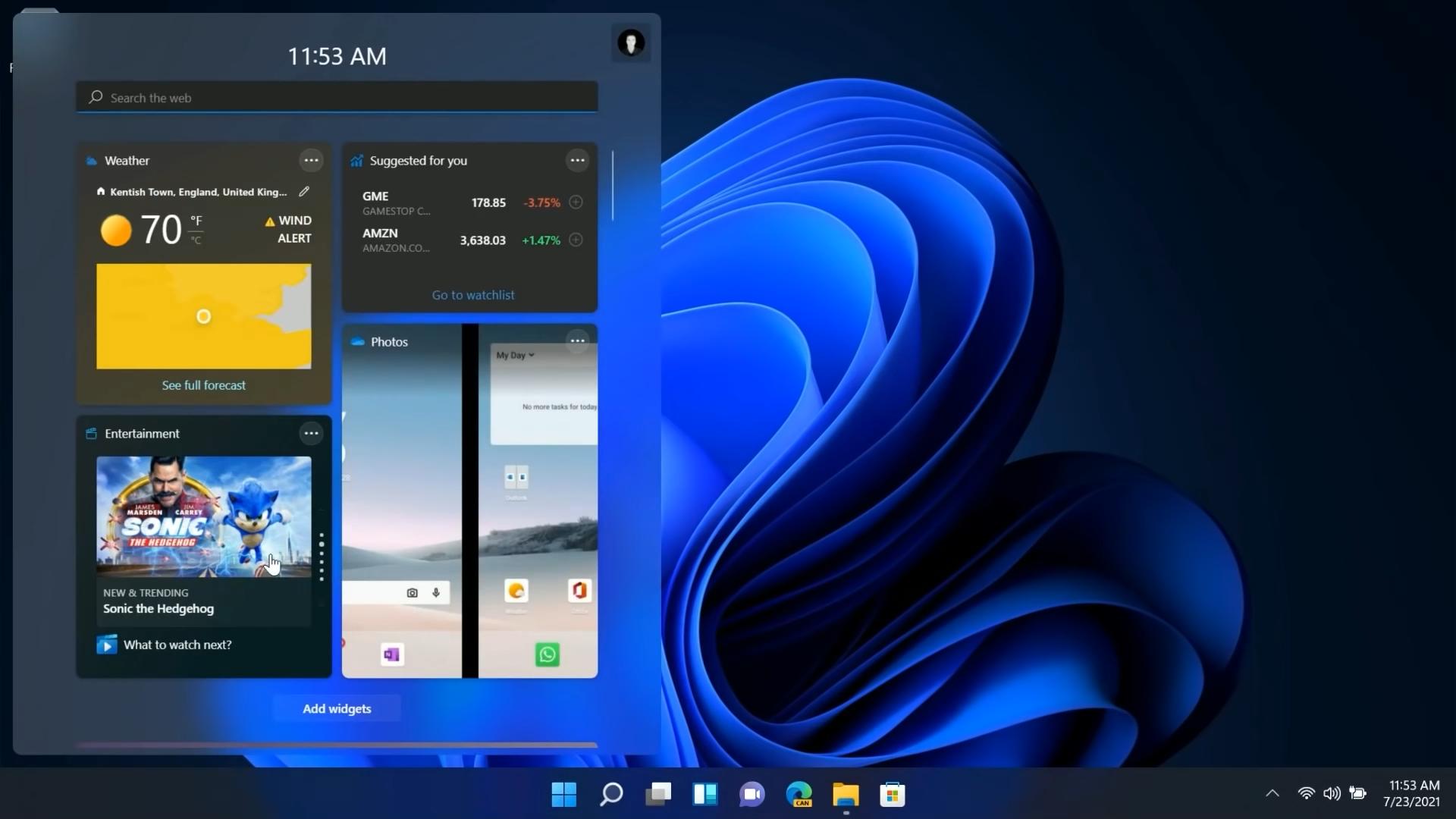 Windows 11 Widgets Source: Windows Central