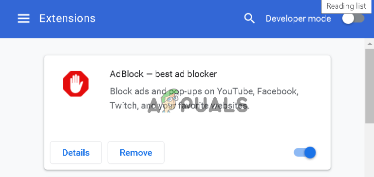 AdBlocker-Extension status_access_violation