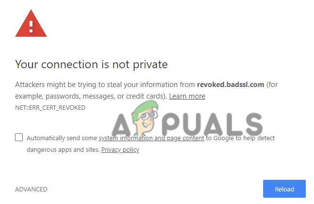 NET::ERR_CERT_REVOKED error