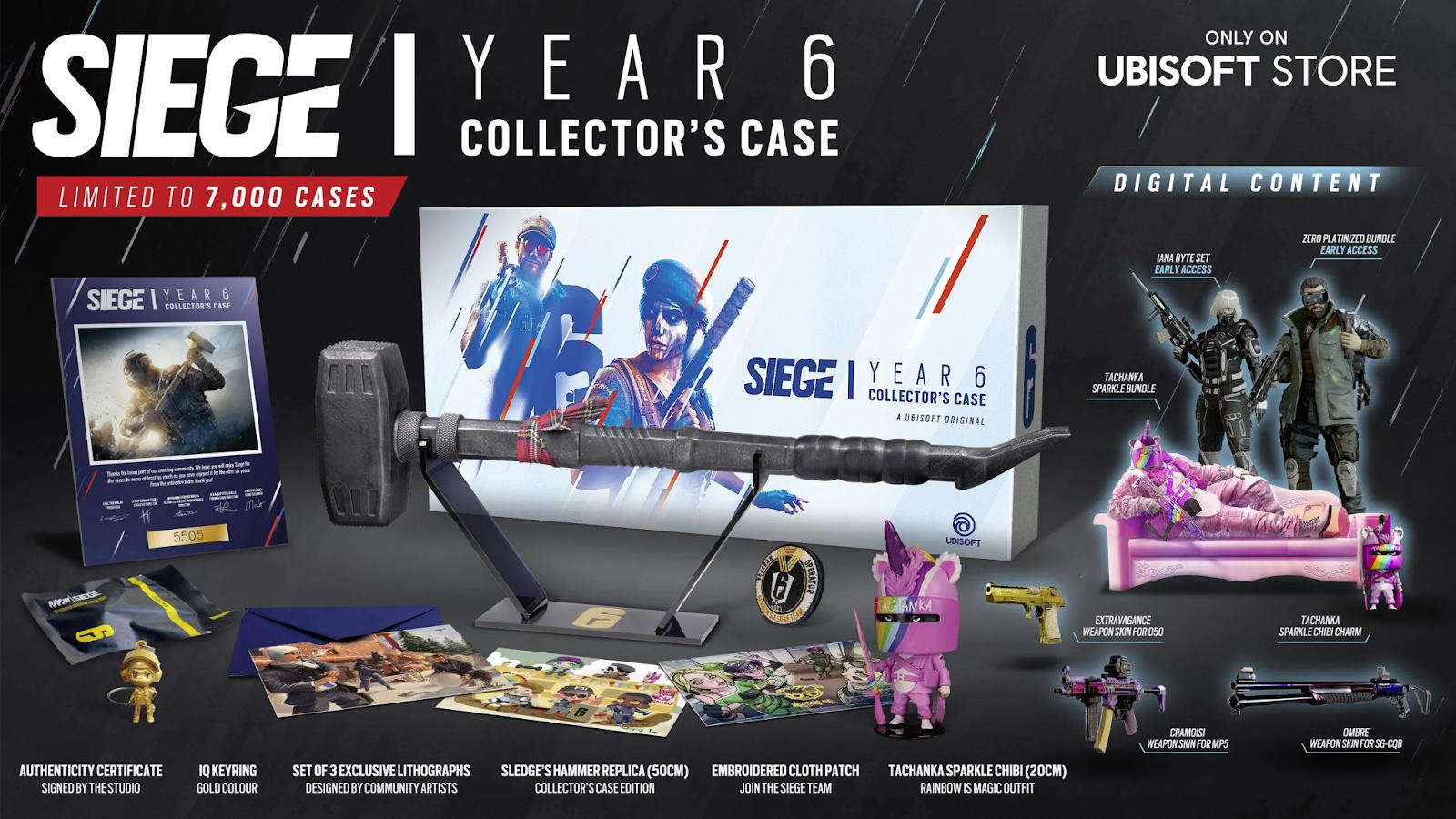 Siege Year 6 Collector's Case